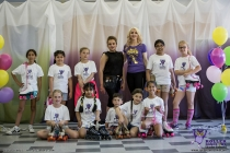 Roller Dance Owl with sponsor of the project Geeta Chabra
